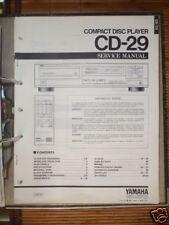 MANUAL DE REPARACION PARA YAMAHA cd-29 Reproductor de CD, original