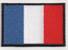 PATCH RICAMO TOPPA BANDIERA FLAG FRANCIA cm. 5,5X8