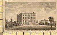 C1790 Antico Georgiano Stampa ~ Prospect Casa Woodford Fila Essex Robert Moxam