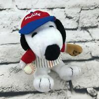 Peanuts Charlie Brown Snoopy Baseball Player Plush Stuffed Animal Toy Dog