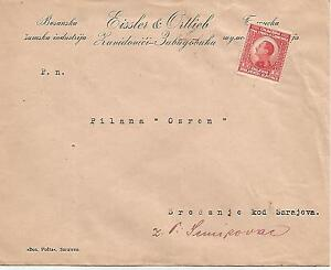 TYPED  COVER TO SARAJOVA  WITH KING ALEXANDER STAMP CIRCA 1929 REF 722
