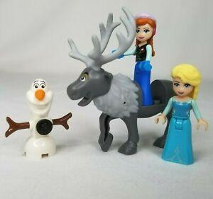 Lego Frozen Minfigures Lot Of 4 Disney Characters Mini Figs Elsa Anna Olaf Sven