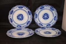 ANTIQUE W H GRINDLEY LORNE FLOW BLUE POTTERY X4 SMALL PLATES