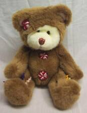"Russ Cookie The Teddy Bear In Gingerbread Costume 7"" Plush Stuffed Animal Toy"
