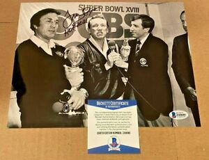 TOM FLORES SIGNED OAKLAND RAIDERS 8X10 PHOTO W/HOF2021 BECKETT CERTIFIED #3