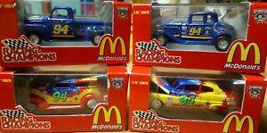 1998 Racing Champions McDonalds #94 Bill Elliott Nascar  50th Anniv Lot of 4 New