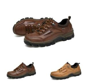 Mens Casual Trail Outdoor Athletic Climbing Leather Hiking Sneakers Shoes Comfy