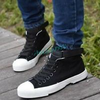 Mens Canvas Sneakers Casual Shoes Lace Up High Top Fashion Athletic Shoes Hot