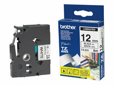 Brother Black on white Roll (1.2 cm x 8 m) 1 roll(s) laminated tape for TZ231