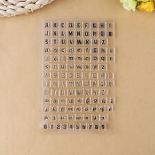 Silicone Alphabet Letter Number Clear Embossing Stamp DIY Craft Scrapbooking