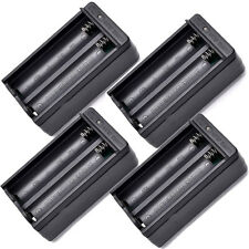 4pcs  Dual Slot Wall Charger US Plug For 18650 3.7V Rechargeable Li-ion Battery