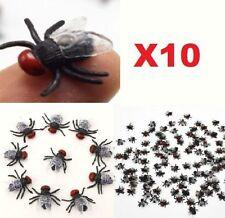 10PCs Halloween Decorations Plastic Fake Flies Joking Toy Realistic Party Prop