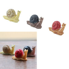3x Miniature Snails Animals Craft Ornament Micro Landscape Home Garden Decor New