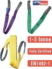 More details for 1-3 tonne webbing lifting sling certified duplex cargo strap hoist strop 1-10m