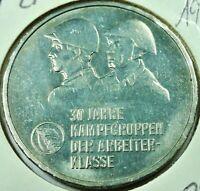 DDR 10,- Mark 1978 - 30 Jahre Kampfgruppen der Arbeiterklasse  stgl / unc