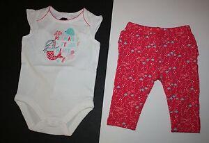 New Gymboree Girls 2 Piece Set Fish Print Leggings Mermaid Bodysuit Top 24m