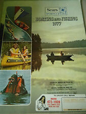 Sears Boating and Fishing Catalog - 1977- Boating and Fishing