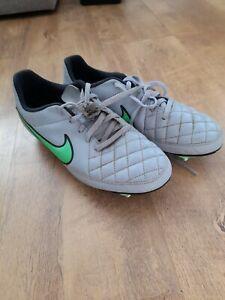 Nike Tiempo Genio - Football Boots - Grey - Studs SG UK Size 5.5