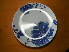 Home BLUE AND WHITE Set of 4 Dinner Plates 11 1/8 Floral Coupe