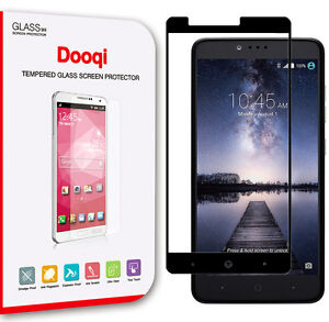 2X Full Cover Tempered Glass Screen Protector for ZTE ZMax Pro Z981 /Carry-Black