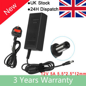 AC/DC 12V 5A Adapter Power Supply for iMAX EC6 B5 B6 LiPo Balance Charger HQ