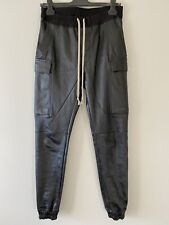 Rick Owens Larry F/W 19 Leather Cargo Joggers