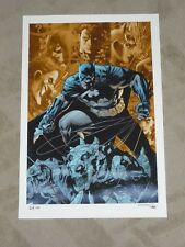 2013 SDCC BATMAN DARK KNIGHT ART PRINT BY JIM LEE & ALEX SINCLAIR 13x19 #xx/30