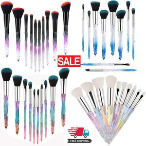 Mermaid Crystal Wood Makeup Brushes More Style Nice Brushes Girl Beauty Gift UK