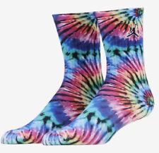 Nike Air Jordan Kids Tie Dye Crew Socks 5Y-7Y 2 Pack
