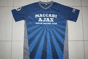 Maccabi Ajax Cricket Club Junior Kids Boys Tee T-shirt - size 14