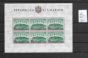 EUROPA CEPT @  1961 SAN MARINO Sheet   € 200.00    MNH  @ Eu.46