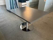 48 X 36x 29h Rectangular Modern Cafeteria Conference Table With Chrome Base