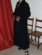 Vintage Liz Claiborne Wool and Cashmere Long Womens Coat Black UK Size 10