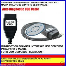 FORD  DIAGNOSIS OBD / OBD2  VCM FORD MAZDA LAND ROVER DESDE ESPAÑA + CD SOFTWARE