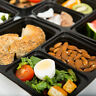 15 PCS 3 Compartment Meal Prep Containers with Lids Bento Reusable Lunch Boxes