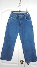Wrangler Blue Relaxed Fit Boys Denim Jeans 12 Husky Adjustable Waistband USED