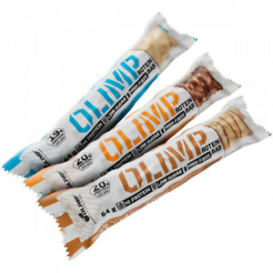 OLIMP Protein Bar 12 Bars x 64g HIGH PROTEIN LOW CARBS & LOW SUGAR GREAT TASTE