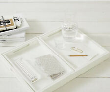 The White Company White Lacquer Set of 3 Trays BNIB