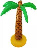 """2x Inflatable Palm Tree 6ft 168cm 72"""" Luau Hawaiian Summer Party Quick Despatch"""