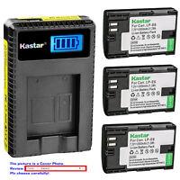 Kastar Battery LCD USB Charger for Genuine Canon LP-E6 LP-E6N & OEM LC-E6 LC-E6E