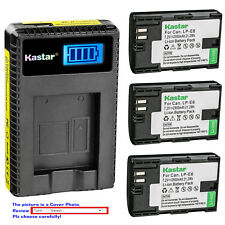 Kastar Battery LCD Charger for Canon LP-E6 LP-E6N LC-E6 & Canon EOS 7D Camera