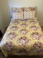 EUC Discontinued Ralph Lauren Sophie Brooke Queen Comforter Set