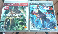 Uncharted 1 & 2 Among Thieves -SONY PS3 TWO 2 New Games