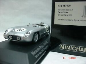 WOW EXTREMELY RARE Mercedes W196S 300SLR Moss/Fangio LeMans 1955 1:43 Minichamps