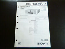 Original Service Manual Schaltplan  Sony MDS-EX880 MS717