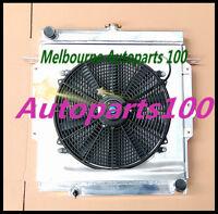 For LandCruiser radiator + shroud + fan 75 Series HZJ75 1HZ Manual Aluminum