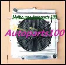 For LandCruiser radiator + shroud + fan 75 Series HZJ75 1HZ Manual Aluminum