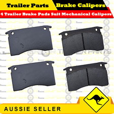 4 x Trailer Brake Pads Suit Mechanical Calipers BOX BOAT JET-SKI TRAILER CARAVAN