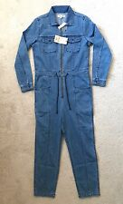 $168 NWT Jcrew M Madewell X GOOP Denim Coverall Jumpsuit Blue Medium F4779