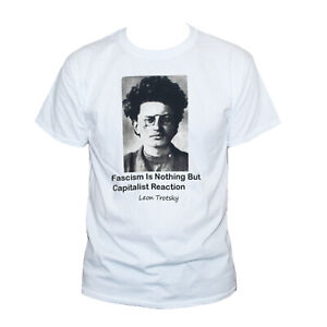 Trotsky T shirt Communist Political Revolution Anti-Capitalist Quote Slogan Tee